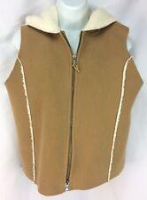 LAUREN Ralph Lauren Womens Vest S Faux Sherpa Lined Hooded Zipper