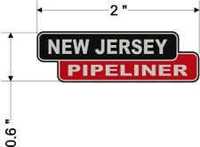 New Jersey Pipeliner Hardhat Sticker Decal - 1 Pair
