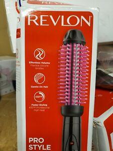 "REVLON Pro Collection Heated Silicone Bristle Barrel Curl Brush 1"" Black"