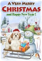 "Lhasa Apso Dog A6 (4"" x 6"") Christmas Card - Blank inside - by Starprint"