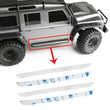 1Pair Stainless Steel Diamond Rock Rails Side Plate For Traxxas TRX-4 RC Crawler