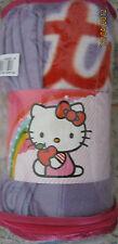 bellissimo plaid hello kitty nuovo col. lilla cm 125x160 idea regalo