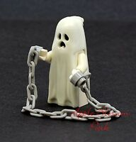 NEW Lego Glow in the Dark GHOST MINIFIG w/Gray Chain -Halloween Monster Fighters