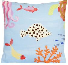 Fishes Printed Cushion Cover Sea Horse Jellyfish Liberty Fabric Something Fishy