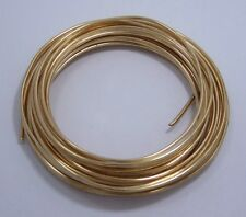 "14 GA (.064"")  Round Brass Wire 1/4lb Coil"