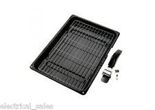 UNIVERSALE Fornello Forno Grill PAN & Handle Hotpoint Indesit Creda da 380mm X VALVOLE