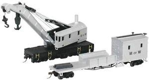 Bachmann 16138 HO 250 ton Crane & Boom Car MOW New Free Shipping