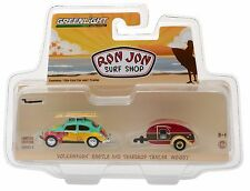 2017 1:64 Greenlight *RON JON SURF SHOP* VW Volkswagen Beetle & Teardrop Camper