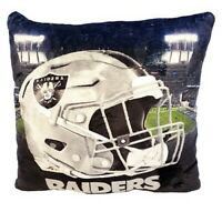"""NFL Los Angeles Raiders Officially Licensed LED Lights-Up Plush Pillow 16""""X16"""""""