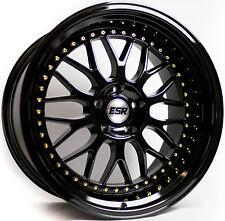"""17"""" ESR SR1 Black Wheels For Maxtrix Camry 5x114.3 17X8.5 +30 Rims set of (4)"""