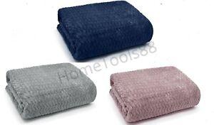 Luxury Wave Flannel Fleece Throw Blanket Sofa Couch Wavy Teddy Soft Bed Throw