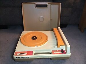 Vintage 1978 Fisher-Price Phonograph Turntable Record Player Model 825 WORKS!