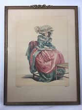 JEAN-ANTOINE WATTEAU FRAMED PRINT Dupin Scul Fil Del French 17th 18th Century