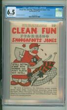 Clean Fun, Starring Shoogafoots Jones #nn CGC 6.5 McDaniel Story, Cover & Art 19