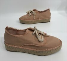 eac10826e Dolce Vita DV Womens Pink/peach Canvas Platform Shoes Lace Up Size 6 GREAT!