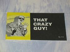 THAT CRAZY GUY!  CHICK CHRISTIAN/ GOSPEL TRACT 1992  JACK CHICK PUBLICATIONS