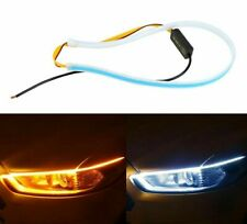 Signal Turn Strip Light Headlight Car Auto Amber Sequential Flexible LED DRL 12V