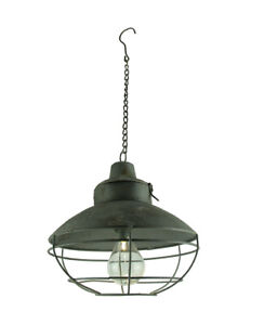 Vintage Industrial Battery Operated LED Accent Pendant Light