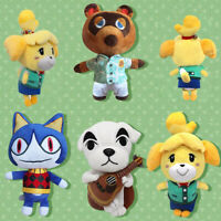 8'' Animal Crossing Tom Nook Shizue Isabelle KK Slider Plush Stuffed Toy Dolls