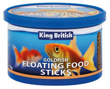 King British Goldfish Floating Food Sticks Complete Cold Water Fish 75g