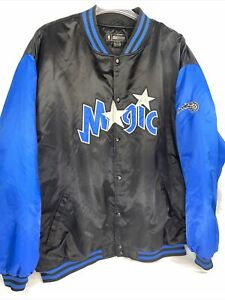 Vtg Rare Orlando Magic NBA Fusion Reebok Satin Varisty Jacket Coat 4XL!!