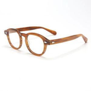 Deluxe Classic Retro Acetate Eyeglass frames Johnny Depp Glasses Spectacles 49mm