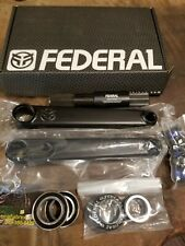 Federal Vice V2 BMX BIKE Cranks 170mm 48 spline +24mm MID BB Black BMX crank NEW