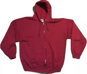 Vintage 90s TULTEX hoodie XL red sweatshirt jacket zip up soft grunge rock
