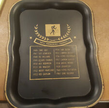Vintage Metal Boxing Neil Memorial Trophy Tip Tray Rocky Marciano Archie Moore