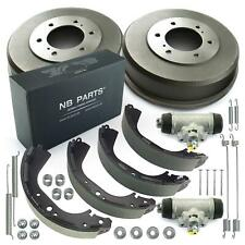2x Bremstrommel + Bremsbacken + 2x Radbremszylinder hinten für Nissan Pick-Up II