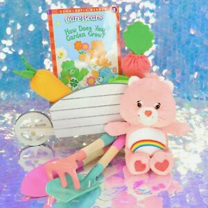 Care Bears CHEER BEAR Plush Stuffed Animal HOW DOES YOUR GARDEN GROW? Book H763
