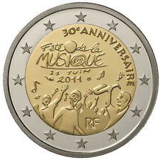 Francia  2€ 2011 Festa della Musica   FDC