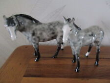 2 VINTAGE ELITE POTTERY  APPALOOSA  HORSES  MARE & FOAL V.G CONDITION