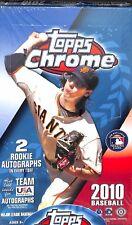 2010 Topps Chrome Baseball Sealed Hobby Box