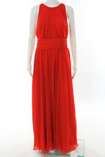 Badgley Mischka Halter Ruby Red Gala Gown Size 10 New $740 10202351