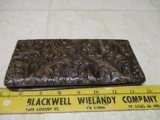VTG NOS Mens Western Tool Plastic Leather Wallet Billfold Phillips 66 Check Hold
