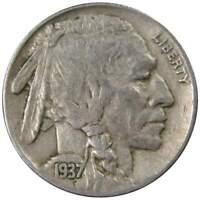 1937 D 5c Indian Head Buffalo Nickel US Coin VF Very Fine