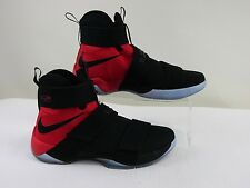 Pre-owned Nike LeBron Soldier X 'BLACK UNIVERSITY RED'  Mens Shoes Size *13