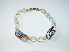NEW BEAUTIFUL & AUTHENTIC MURANO GLASS BRACELET MADE IN ITALY IN WHITE COLOR!