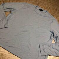B-801 Nordstrom Mens Pullover Soft knit Light Blue Crew Neck Long Sleeves XL