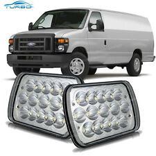 2x LED Headlight High/Low Beam for Ford E-150 E-250 E-350 Econoline Club Wagon