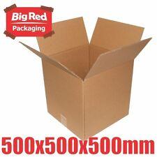10 x 500 CUBE Moving Box 500x500x500mm Cardboard Carton Removalist Shipping