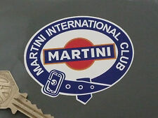 "MARTINI INTERNATIONAL CLUB Belted Logo Stickers 2.75"" Pair Racing Race Rally Car"