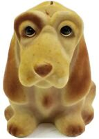 Vintage 1950's Felt Basset Hound Dog Piggy Coin Bank  by Royalty Designs inc
