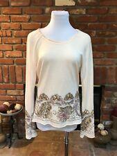 Arden B SM Silk Blend Floral Sequin Bell Dolman Stretch Dress Tunic Shirt Top L