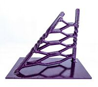 """Calvun"" Abstract Metal Sculpture - Modern Industrial Steel Table Art"