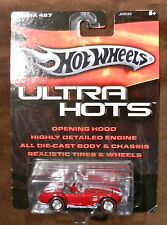 HOT WHEELS RED W/STRIPES 1965 CARROLL SHELBY COBRA 427 S/C  W/REAL RIDERS L/E