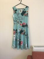 Flowers And Rain A Line Party Swing Dress  - UK 12