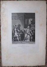 Eau forte, Illustration de La Thébaïde de Racine, IV, 3