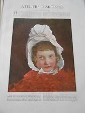 1898  Esquisse pour un portrait d'enfant par Jules Lefebvre